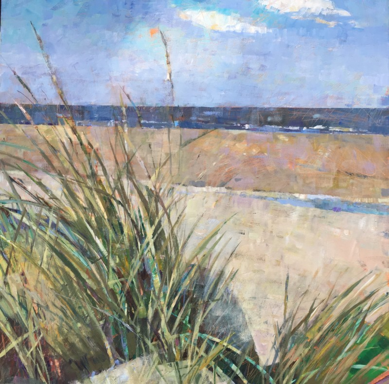 Sally Anne Fitter Through the dunes 30 x 30 ins £1,245