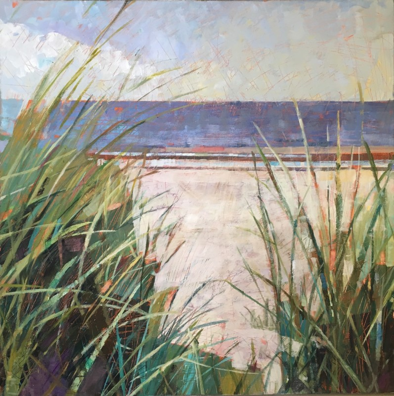 Sally Anne Fitter Through the Marram grass 24 x 24 ins £985