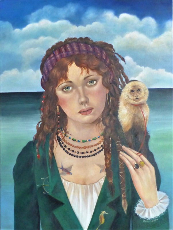 Rosie Lippett Pirate 24 x 18 ins £2250 Once plunderers with royal approval, the privateers were outlawed by James 1st and became the stuff of myths and legends. The female pirate was as ruthless as her male counterpart.