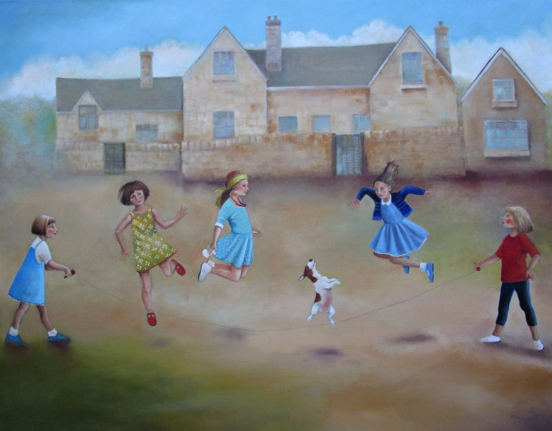 Roise Lippett Skipping Girls 24 x 30 ins £2950