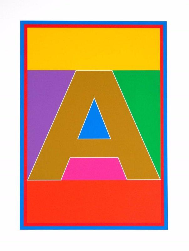 Peter Blake, Dazzle Alphabet - A