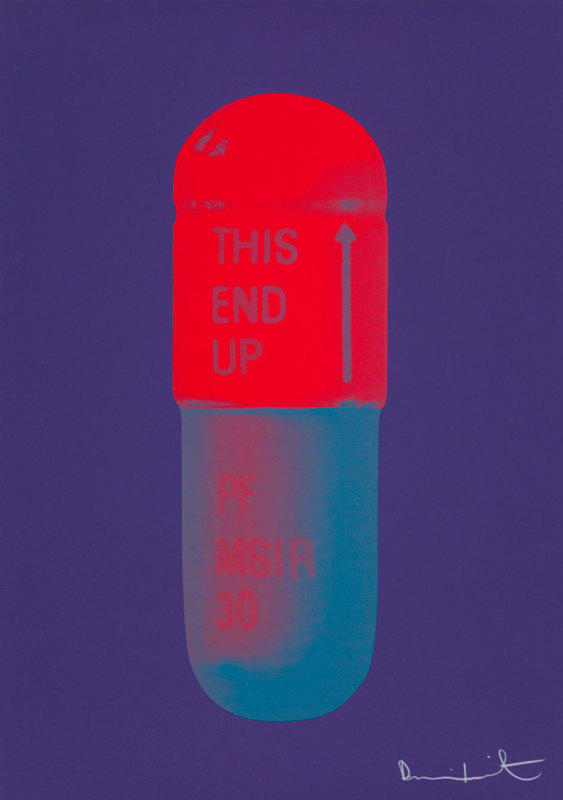 Damien Hirst, The Cure - Violet/Electric Red/Powder Blue