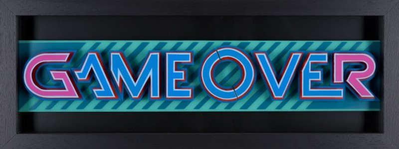Static, Game Over- Pink & Blue