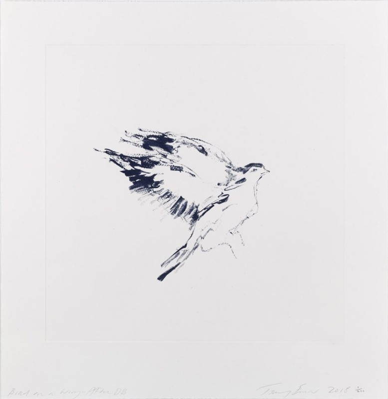Tracey Emin, Bird On A Wing After DB, 2018
