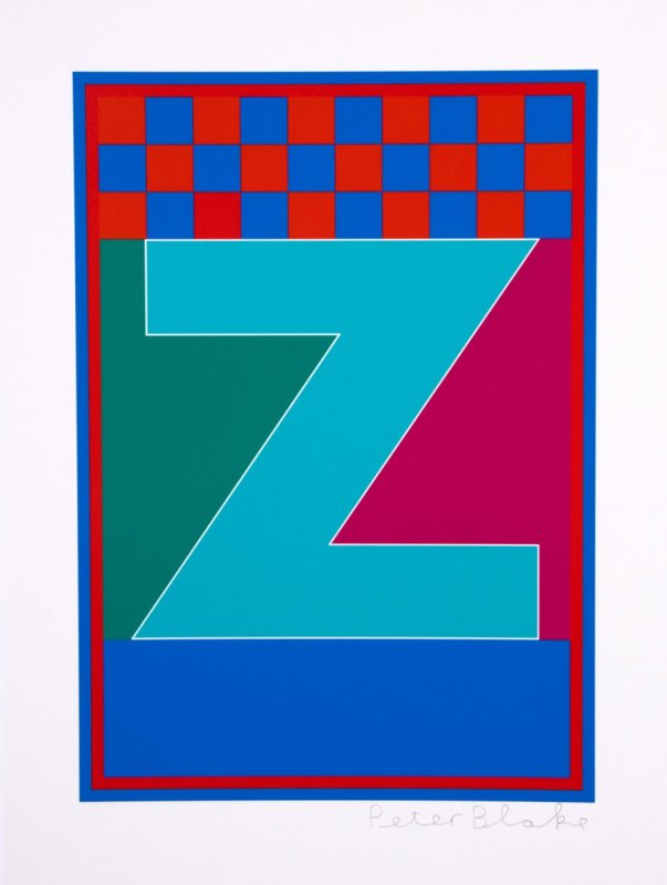 Peter Blake, Dazzle Alphabet - Z