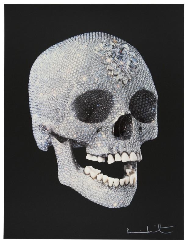 Damien Hirst, For The Love Of God - Black Background