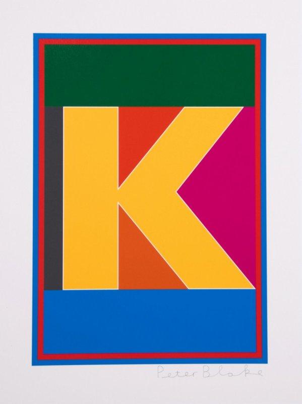Peter Blake, Dazzle Alphabet - K