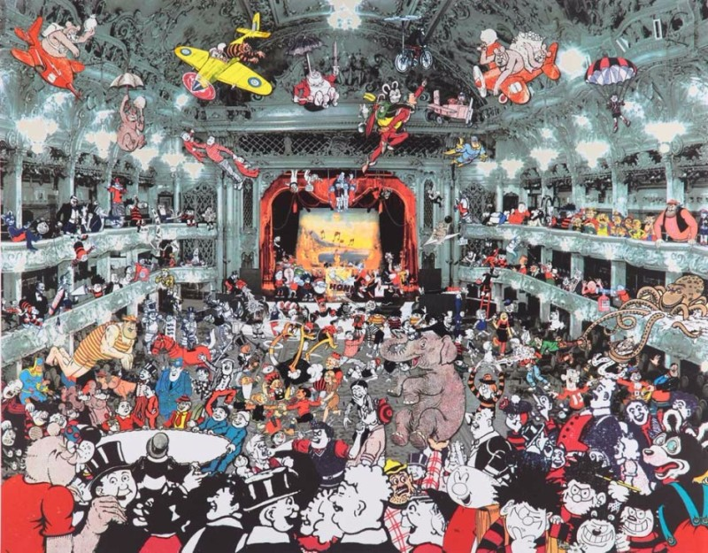 Peter Blake, Marcel Duchamp's World Tour – DC Thomson Reunion at the Tower Ballroom Blackpool