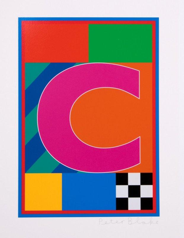 Peter Blake, Dazzle Alphabet - C