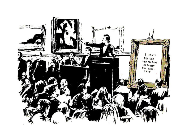 Banksy, Morons (Black and White)