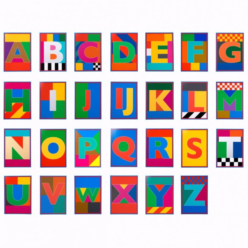 Peter Blake, Dazzle Alphabet Box Set