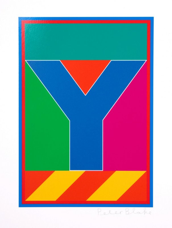 Peter Blake, Dazzle Alphabet - Y
