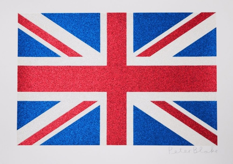 Peter Blake, Union Flag- Glitter