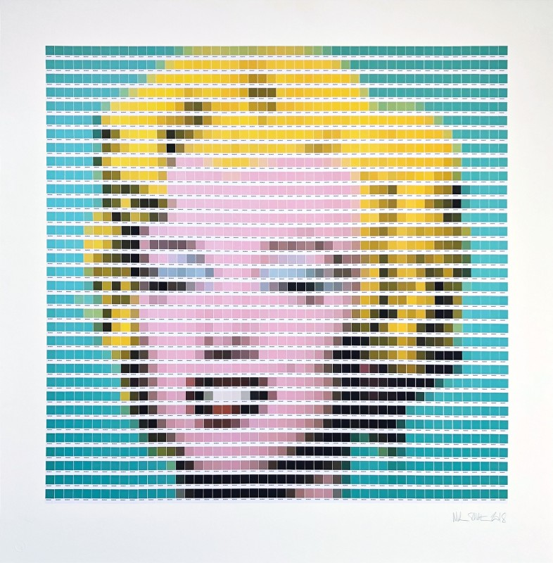 Nick Smith, Warhol - Turquoise Marilyn, 2018