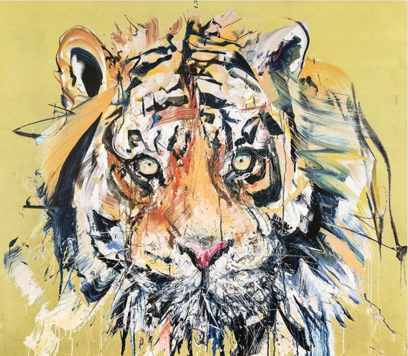 Dave White, Tiger - Gold Leaf