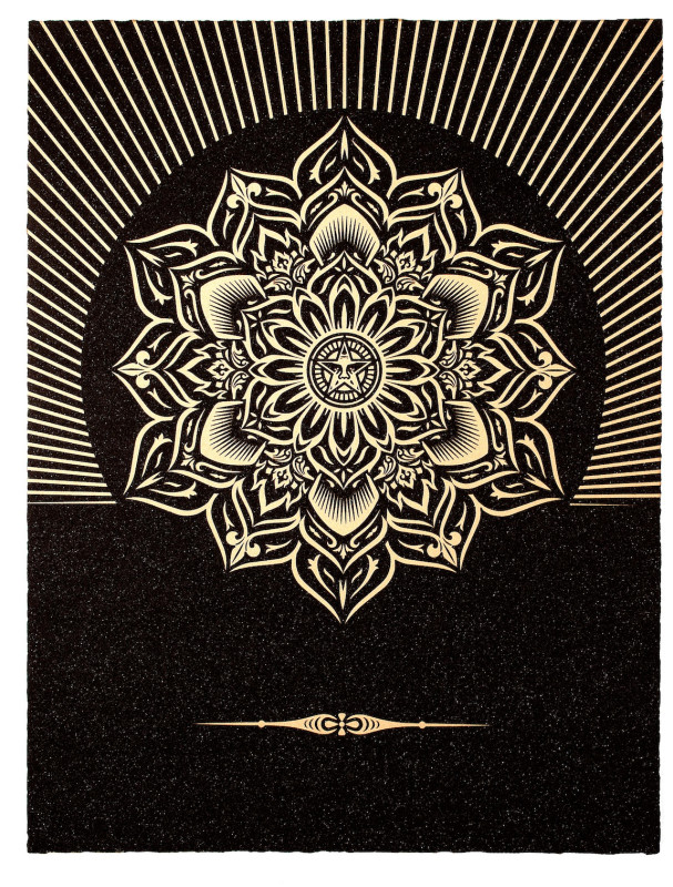Shepard Fairey (OBEY), Obey Lotus Diamond - Black and Gold