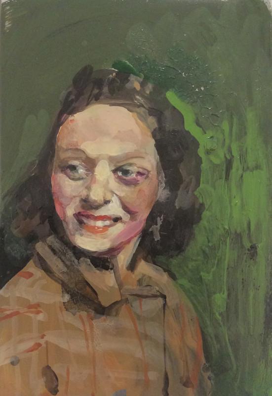 Geraldine Swayne, Laughing Woman in Orange Tweed