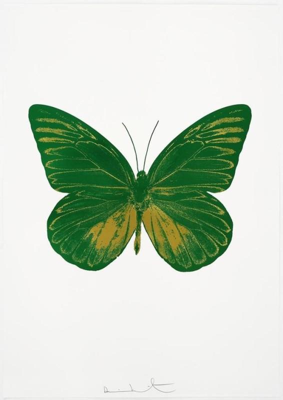 Damien Hirst, Souls I, Emerald Green/Oriental Gold
