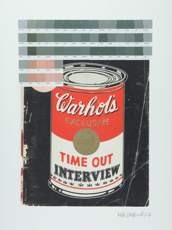 Nick Smith, Warhol Interview (Golf Leaf) ,Time Out 1971