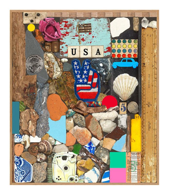 Peter Blake, USA Series - Stone and Shells