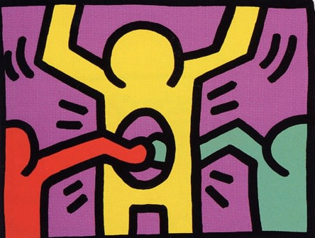 keith haring, Pop Shop 1, 1987