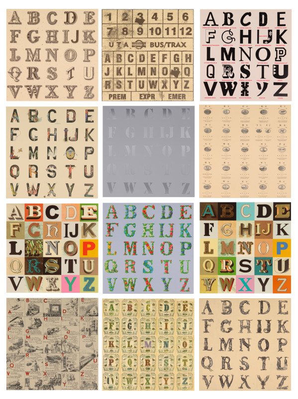 Peter Blake, Appropriated Alphabets - Set of 12 Prints