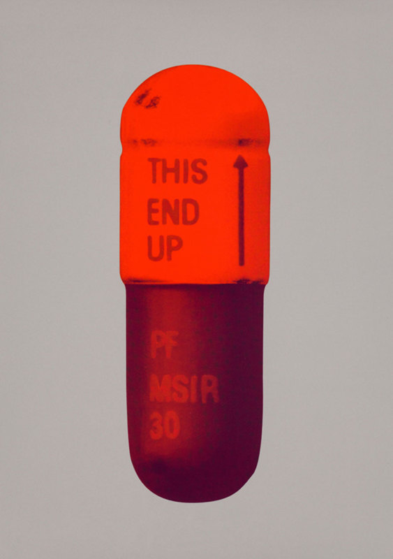 Damien Hirst, The Cure - Battleship Grey/Fizzy Orange/Berry