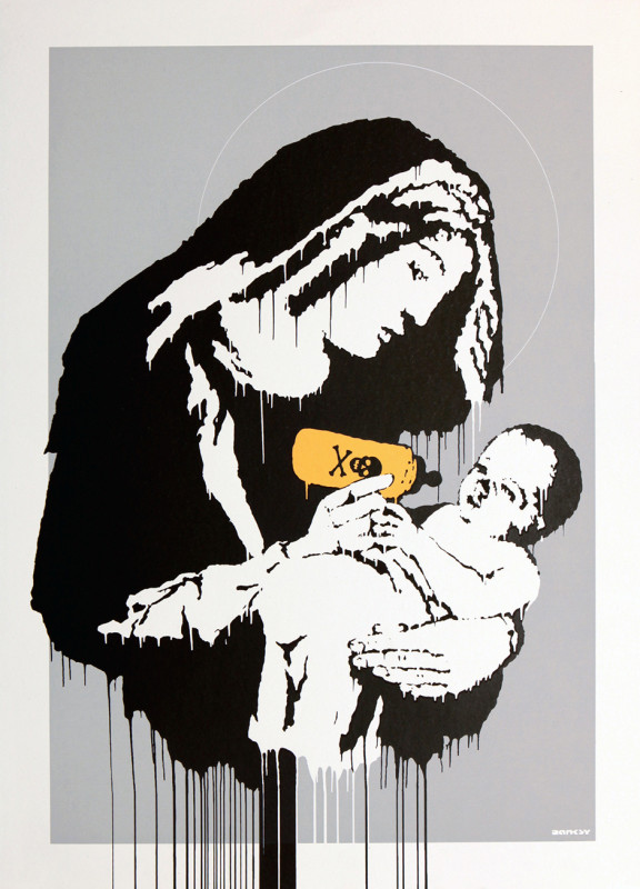 Banksy, Virgin Mary (Toxic Mary)