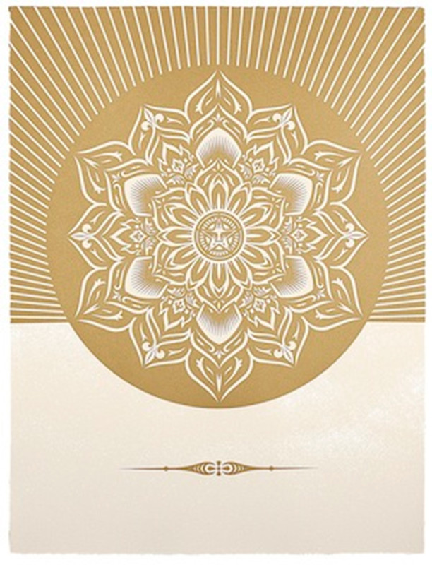Shepard Fairey (OBEY), Obey Lotus Diamond - White and Gold
