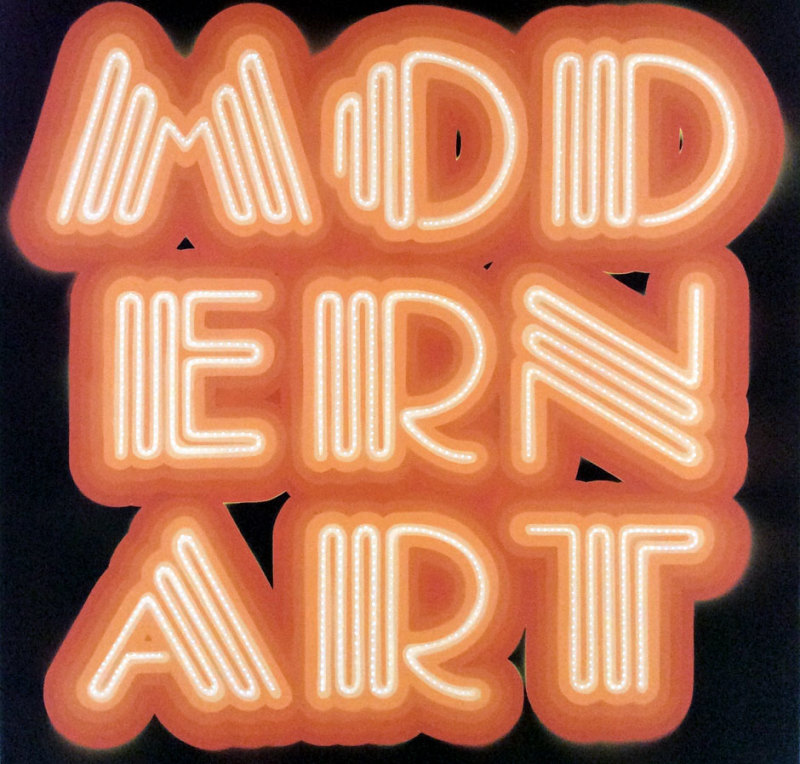 Ben Eine, Modern Art- Neon Orange