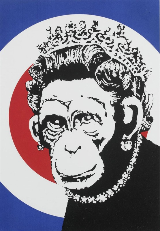 Banksy, Monkey Queen, 2003