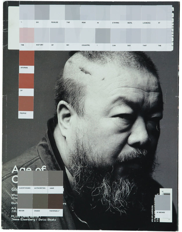 Nick Smith, Ai Weiwei, Dazed and Confused 2011