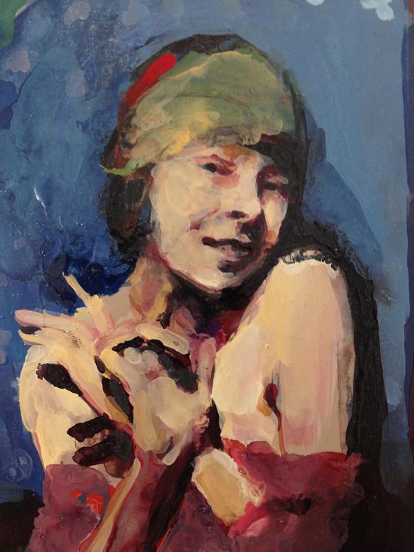 Geraldine Swayne, Scarlett (Blue Background)