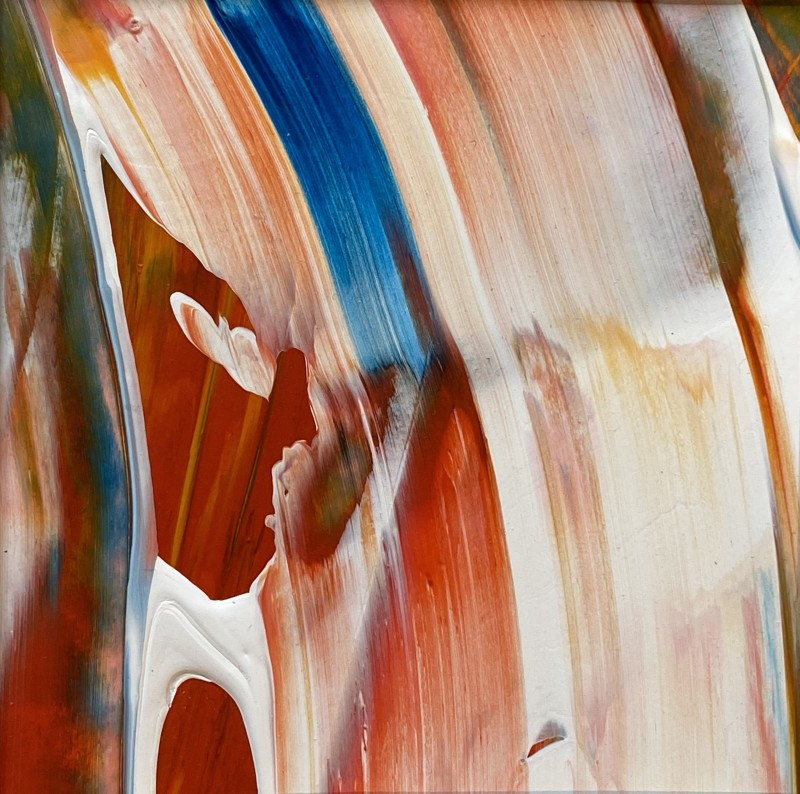 Lisa Sharpe, Red, White, Yellow, Green and Blue in the Flow III