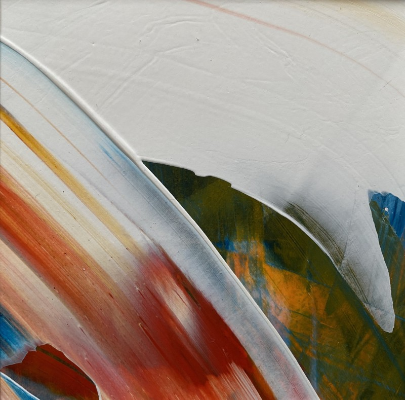 Lisa Sharpe, Red, White, Yellow, Green and Blue in the Flow II