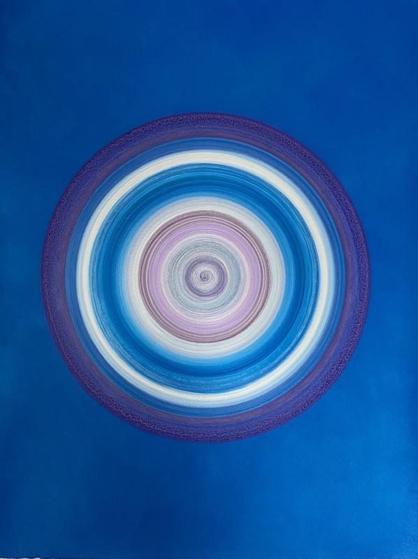 Lisa Sharpe Paintings, Blues, Pink, Purple & Silver Portal