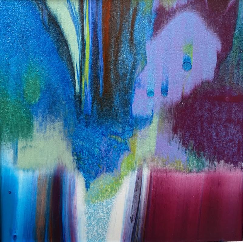 Lisa Sharpe, Shimmering Blues, Pinks & Greens, 2020