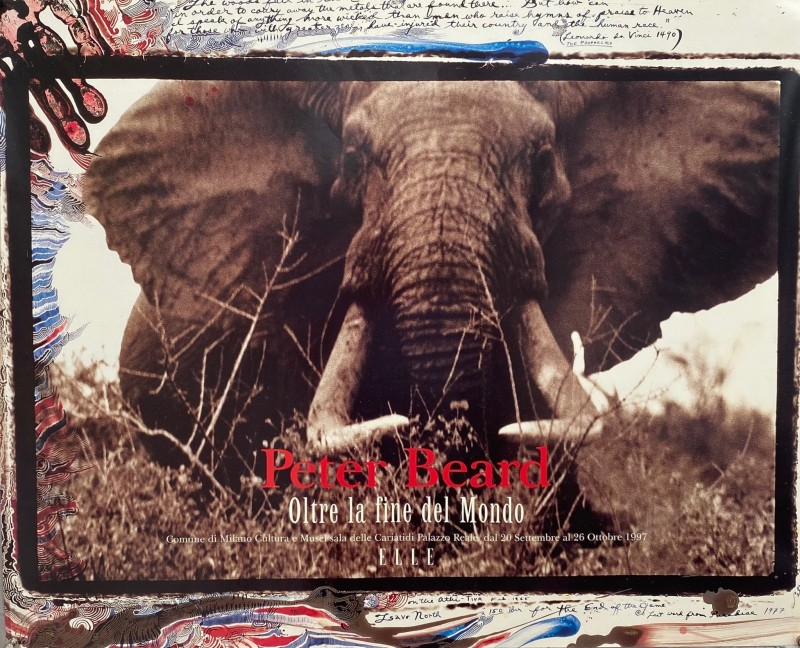 Very rare Peter Beard exhibition poster for his 1997 Milan show.