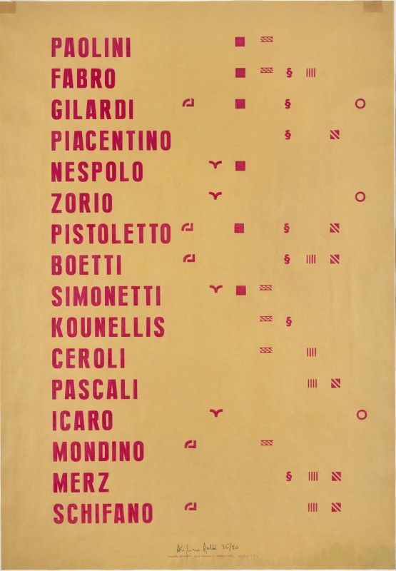 Alighiero Boetti Manifesto 1991 Offset printing (36 / 50), 100 x 70 cm