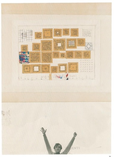 Alighiero Boetti Senza titolo 1979 Ink, pencil, collage, stamp and photocopies on paper, 69 x 50 cm