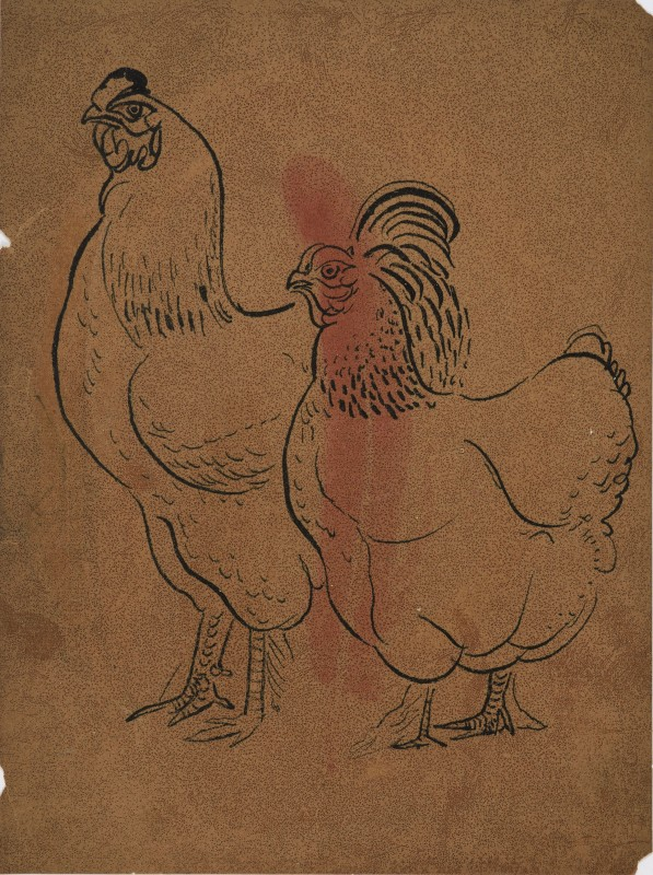 <span class=%22title%22>Untitled (Rooster and Hen)</span>