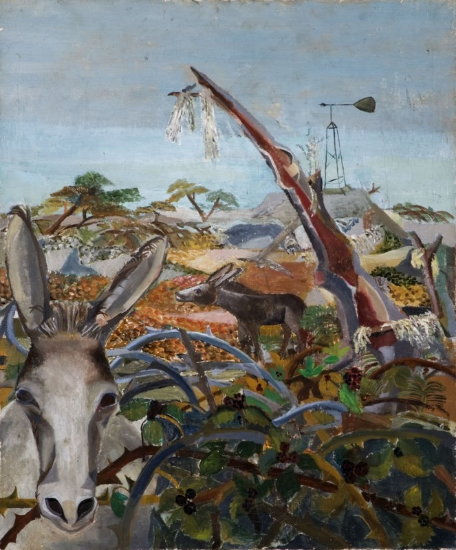 <span class=%22title%22>Donkeys in Bramble<span class=%22title_comma%22>, </span></span><span class=%22year%22>1949</span>