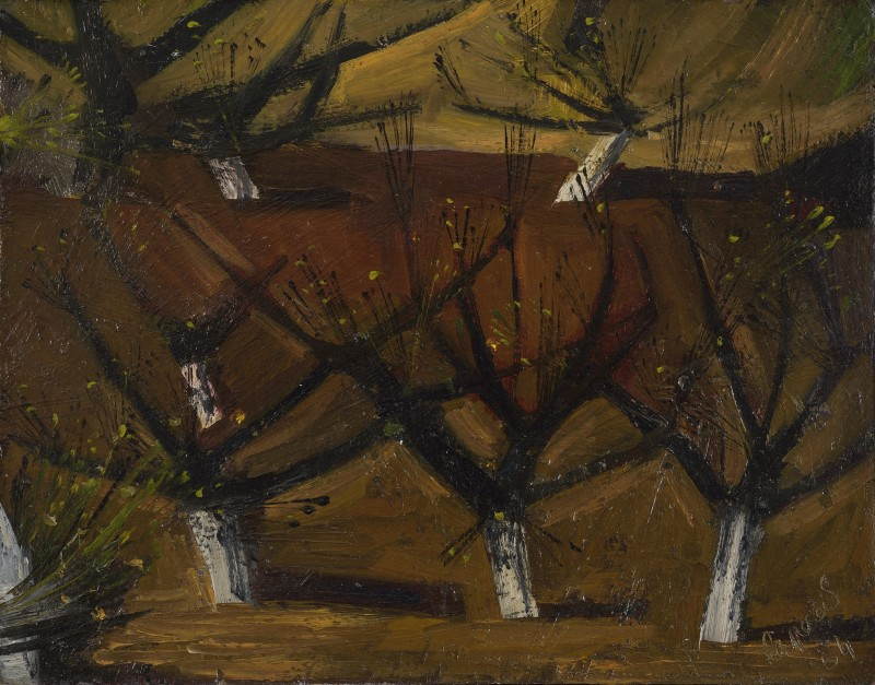 <span class=%22title%22>The Orchard's Edge, Spring<span class=%22title_comma%22>, </span></span><span class=%22year%22>1954</span>