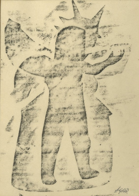<span class=%22title%22>Untitled (Frottage Figure)<span class=%22title_comma%22>, </span></span><span class=%22year%22>1960s (c.)</span>