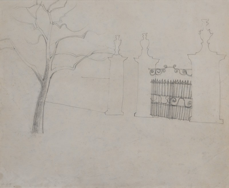 <span class=%22title%22>Untitled (gate and tree)<span class=%22title_comma%22>, </span></span><span class=%22year%22>1967 (c.)</span>