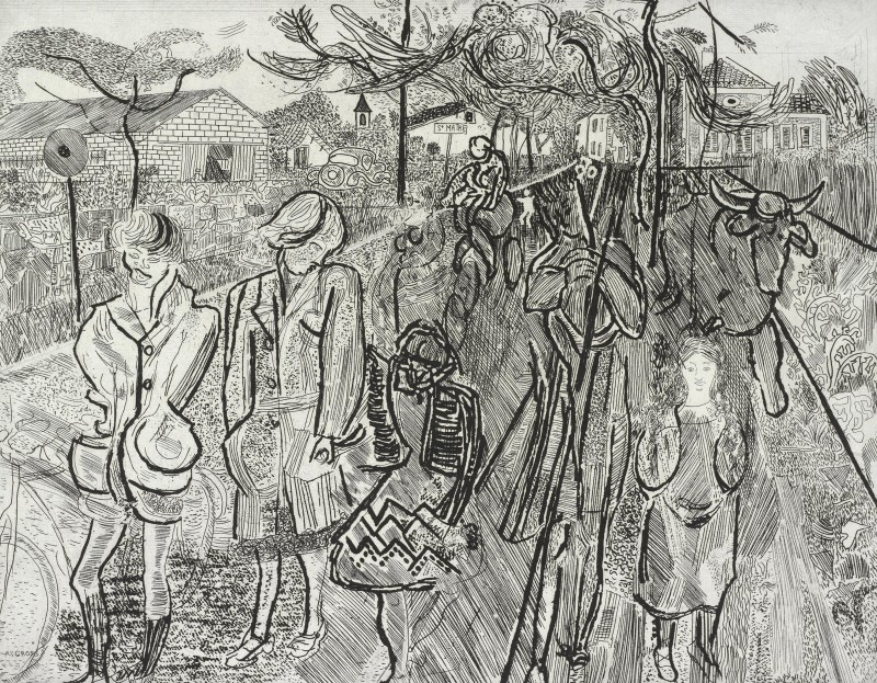 <span class=%22title%22>Children Going Out to the Fields<span class=%22title_comma%22>, </span></span><span class=%22year%22>1955</span>
