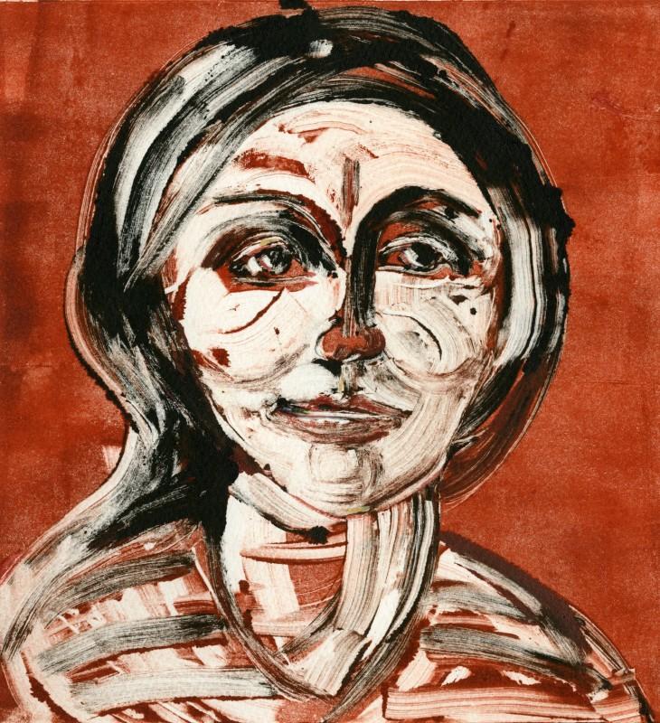 Julia Midgley RWS RE, Portrait B&Q Queue