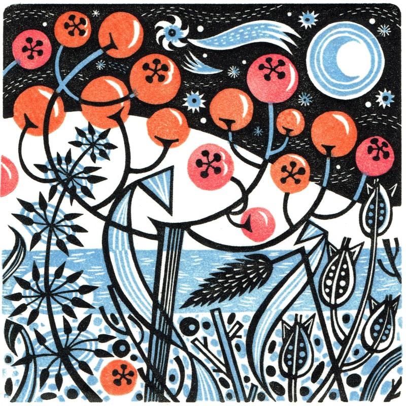 Angie Lewin RWS RE, Winter Berries