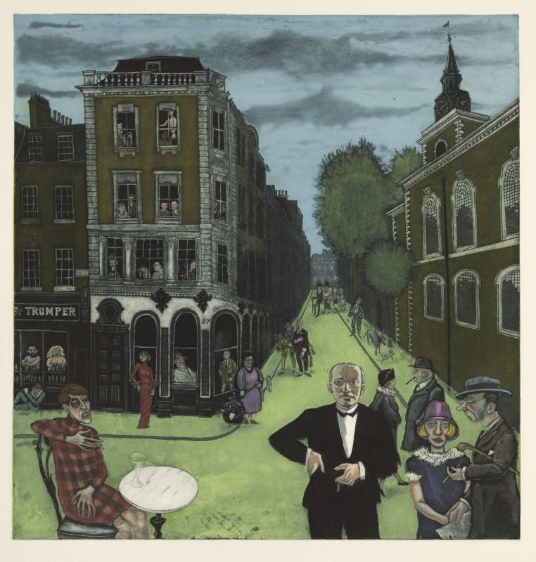 Mychael Barratt PPRE Hon RWS, Life Imitating Art - Jermyn Street