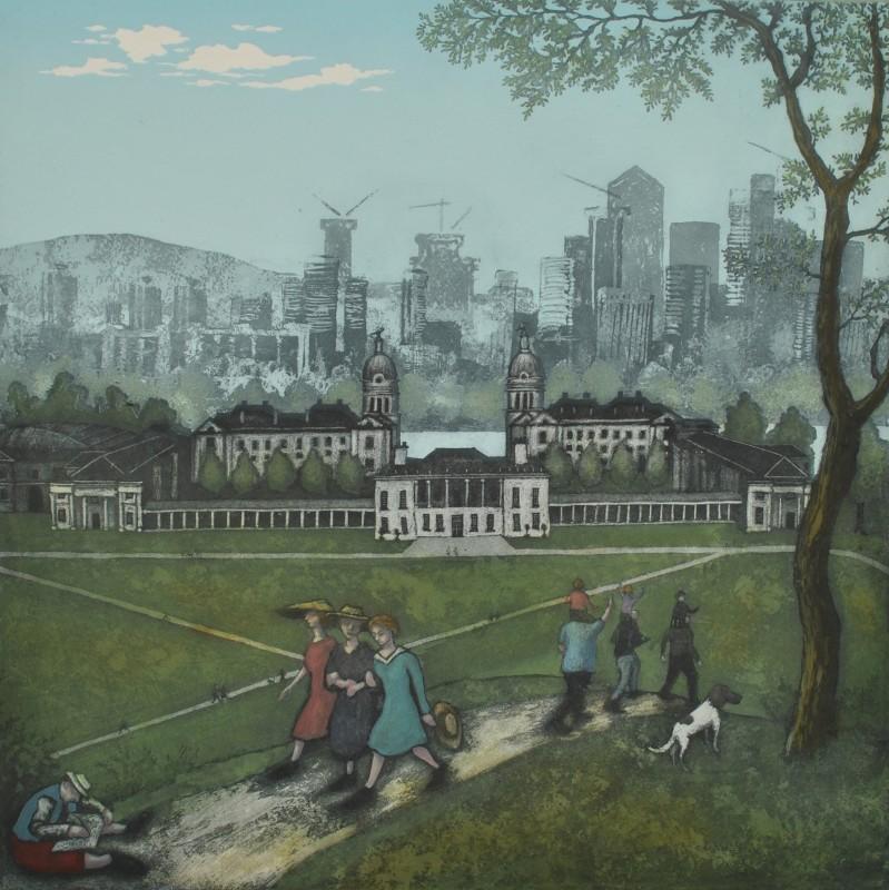 Mychael Barratt PPRE Hon RWS, Greenwich Park - Spring, after Bruegel